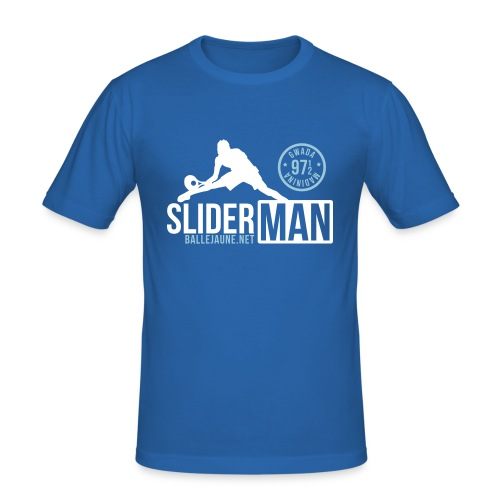 SliderMan 971/972 Simple Bleu T-shirt (flex2c) - T-shirt près du corps Homme