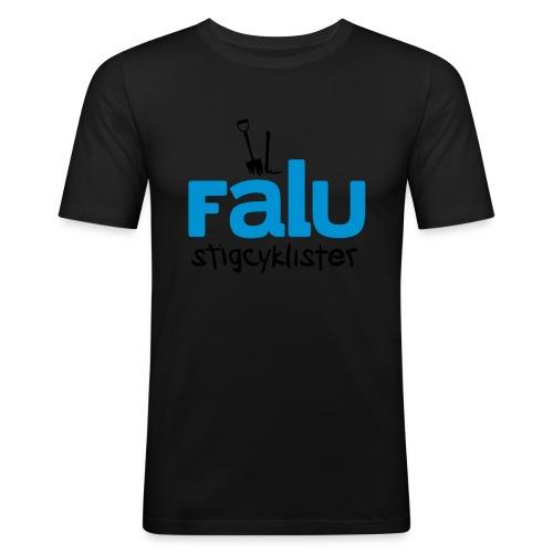 T-Shirt Slim Fit Herr, tvåfärgstryck - Slim Fit T-shirt herr