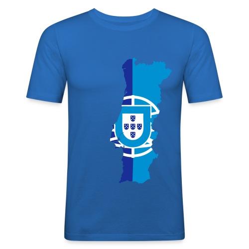 Portugal Design Blue - T-shirt près du corps Homme
