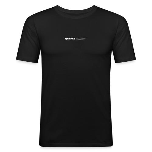Synewave Records T-Shirt  Special Series (black  logo) - Men's Slim Fit T-Shirt