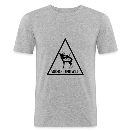 Vorsicht Brotwild! - Männer Slim Fit T-Shirt