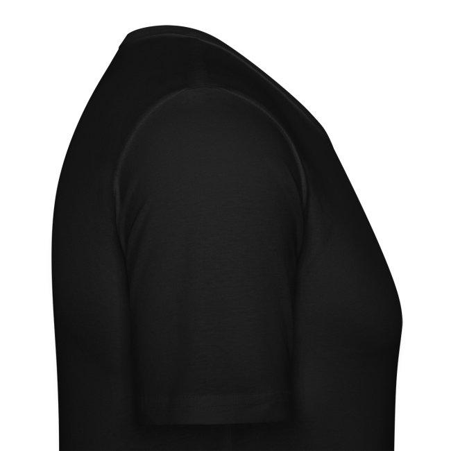 Slim T-skjorte med sort logo i flock-trykk