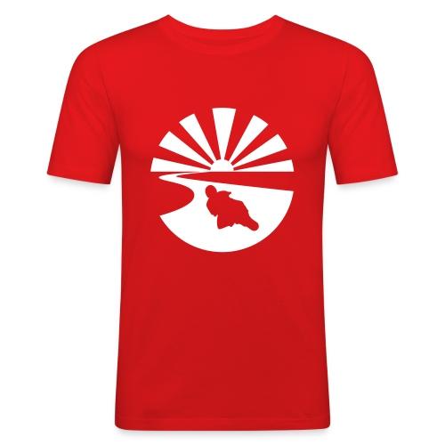 Biker_sunset - Men's Slim Fit T-Shirt
