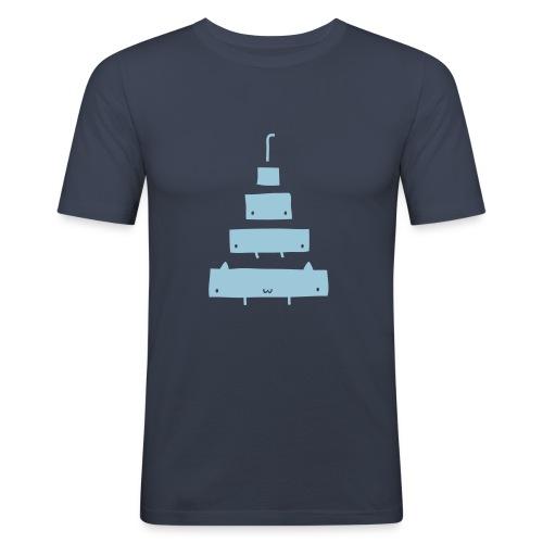 Catamorphosis T-Shirt Navy - Men's Slim Fit T-Shirt