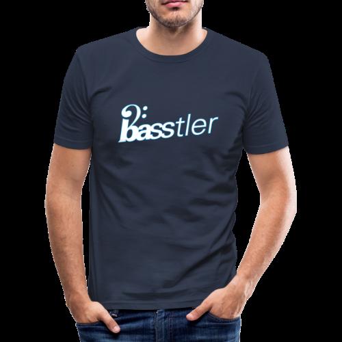 BASSTLER (Hellblau / Weiß) - Männer Slim Fit T-Shirt