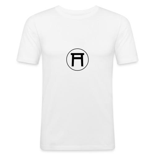 Grundlagen Shirt Männer, weiß - Männer Slim Fit T-Shirt