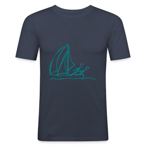 Segel Shirt - Männer Slim Fit T-Shirt