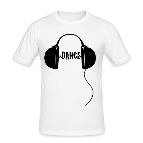 dance with headphones - Men's Slim Fit T-Shirt