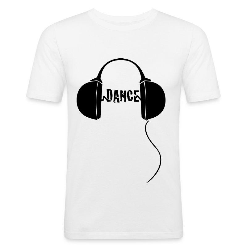 dance with headphones - Men's Slim Fit T-Shirt