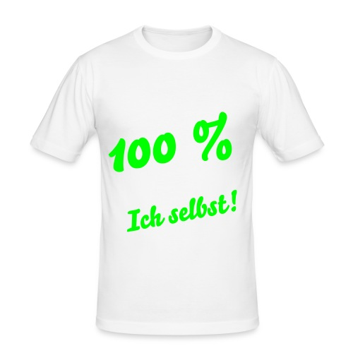 100 % No.1 - Männer Slim Fit T-Shirt