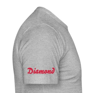 Diamond Collection Grey/Red - Men's Slim Fit T-Shirt