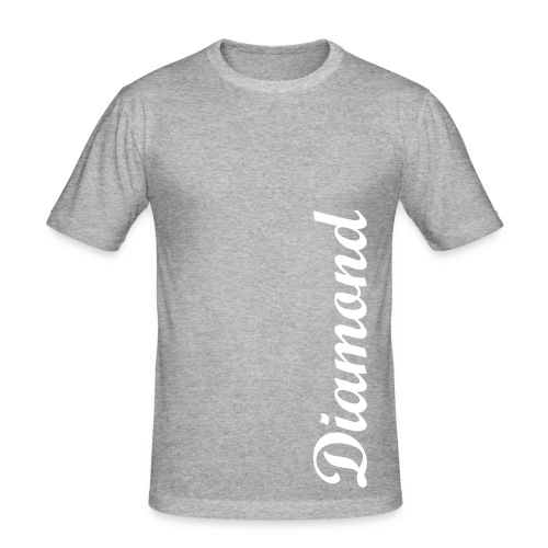 Diamond Grey/White - Men's Slim Fit T-Shirt