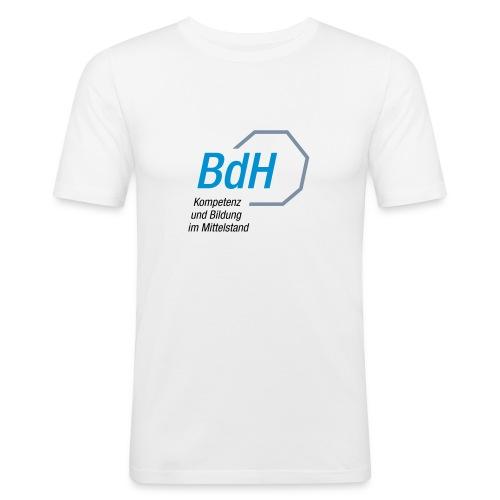 BdH-Logo weiss - Männer Slim Fit T-Shirt