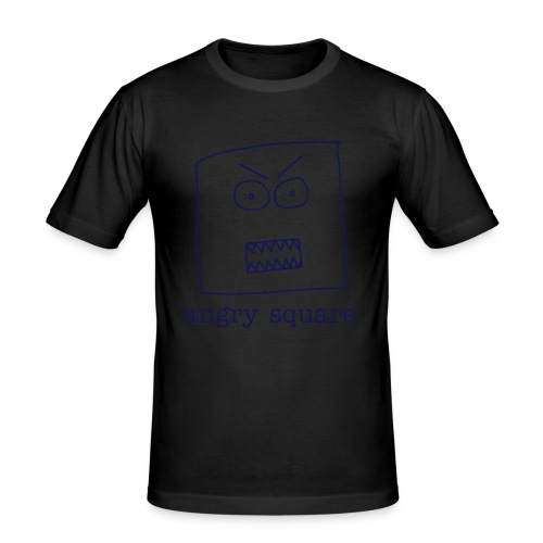 Angry Square - Men's Slim Fit T-Shirt