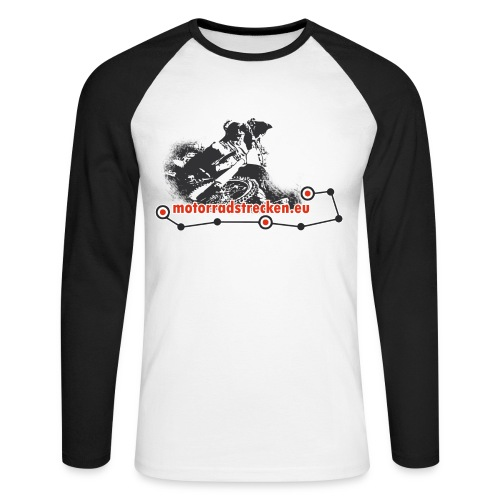 Motorradstrecken.eu Männer Langarm-Shirt - Männer Baseballshirt langarm