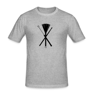 Brushes and Sticks cross - Männer Slim Fit T-Shirt