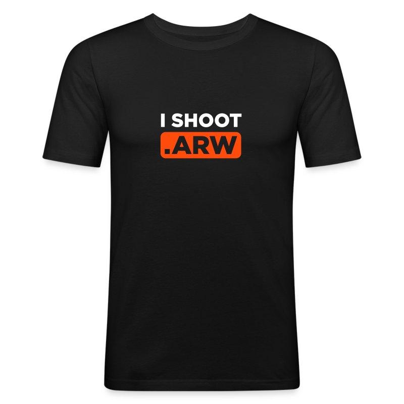 I SHOOT ARW - Männer Slim Fit T-Shirt