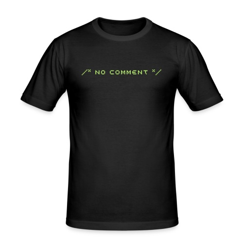 /* no comment */ slimfit shirt - Männer Slim Fit T-Shirt