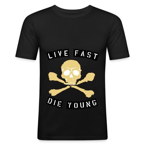 Live fast die young Männershirt - Männer Slim Fit T-Shirt