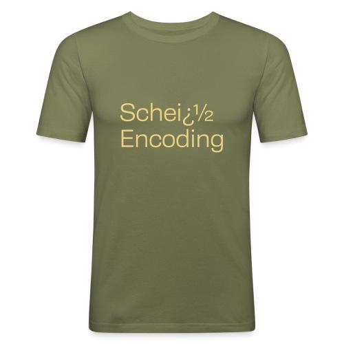 Scheiß Encoding - Männer Slim Fit T-Shirt