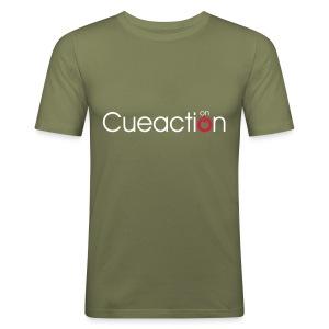 cueaction mode on - Männer Slim Fit T-Shirt