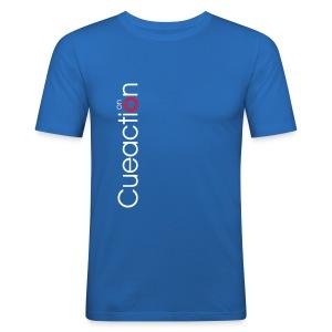cueaction snooker - Männer Slim Fit T-Shirt