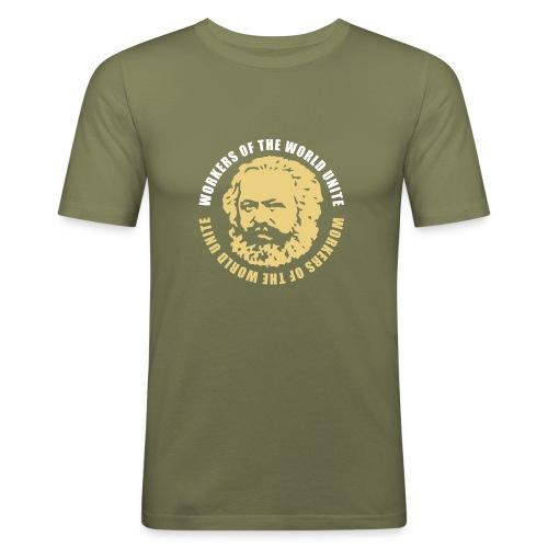 Karl Marx Slogan Slim Fit Tee - Men's Slim Fit T-Shirt