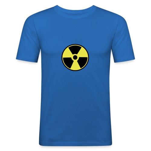 Simppeli ydinvoimamerkki! - Miesten tyköistuva t-paita