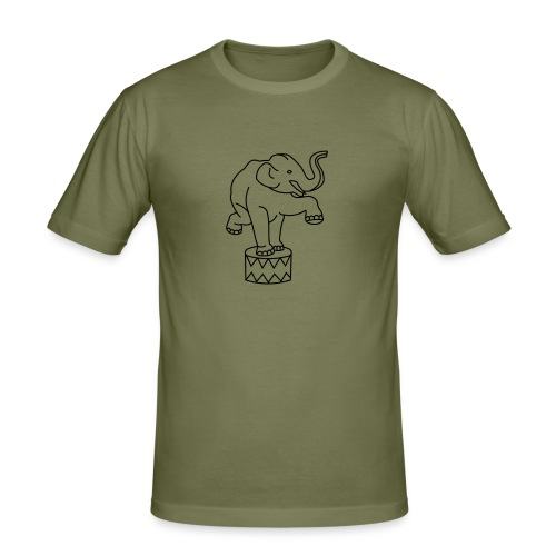 Zoo Zirkus Elefanten Circus Elephants Retro Comic - Männer Slim Fit T-Shirt