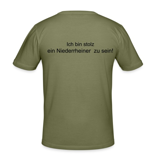 Proud to be Niederrhein - Männer Slim Fit T-Shirt