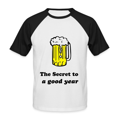 beer a secret to a good year - Men's Baseball T-Shirt