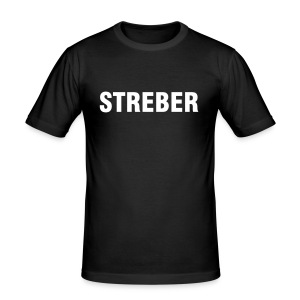 Streber Shirt Slim fit - Männer Slim Fit T-Shirt