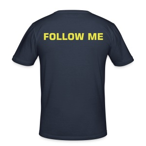 """FOLLOW ME"" T-Shirt, dark navy - Männer Slim Fit T-Shirt"