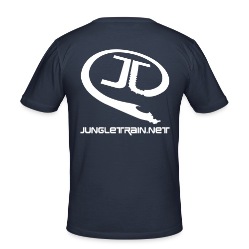 \o/ BOH! - Jungletrain.net (Navy) - Men's Slim Fit T-Shirt