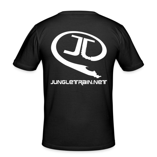 \o/ BOH! - Jungletrain.net (Black) - Men's Slim Fit T-Shirt