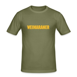 Weimaraner - Männer Slim Fit T-Shirt