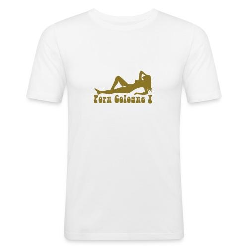 Porn Cologne! T white GoA - Männer Slim Fit T-Shirt