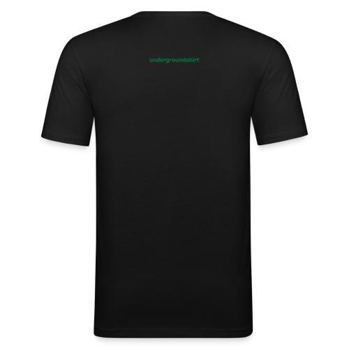 retrosexual T black GoA - Männer Slim Fit T-Shirt