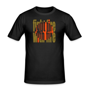 Fight fire - stunning metalic finish - Men's Slim Fit T-Shirt