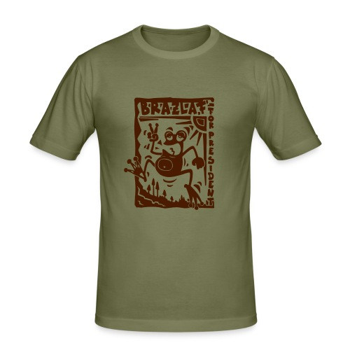 Brown Brazlaf - Männer Slim Fit T-Shirt