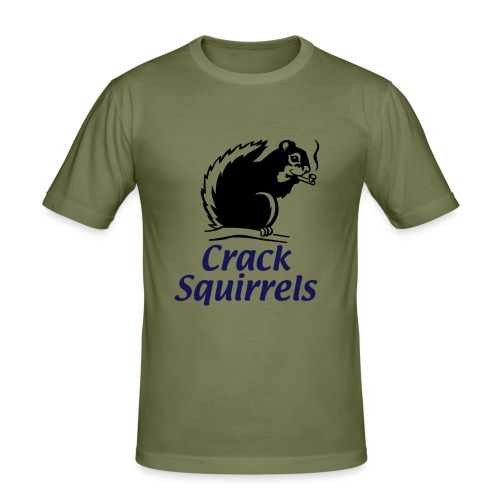Crack Squirrel T - Men's Slim Fit T-Shirt