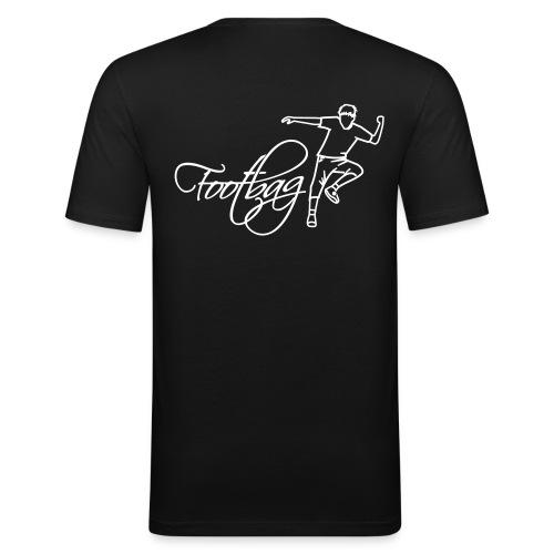 footbag-shop.de Shirt - 2 Logos - Männer Slim Fit T-Shirt