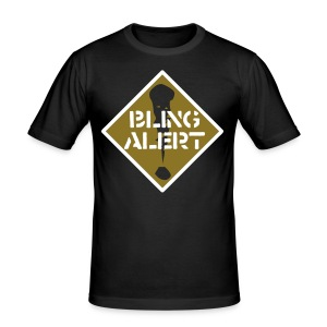 Bling Alert metalic, reflective BLING! - Men's Slim Fit T-Shirt