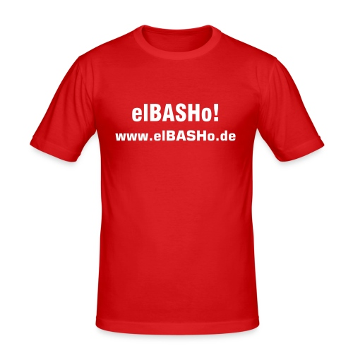 elBASHo! Shirt Red - Männer Slim Fit T-Shirt