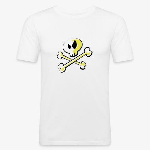 Cartoon Skull - Männer Slim Fit T-Shirt