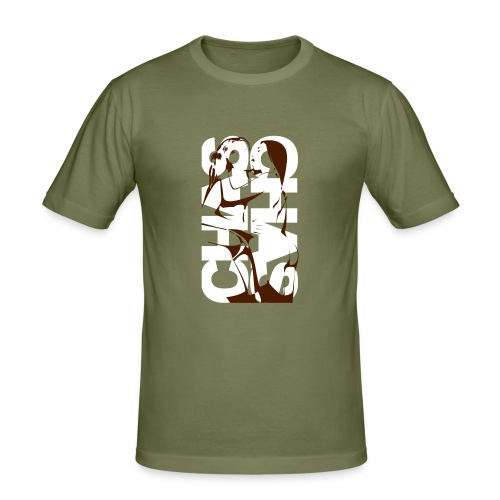 2girls - olive - Männer Slim Fit T-Shirt
