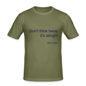 Donthinktwice - Men's Slim Fit T-Shirt