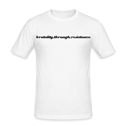 White B.T.R T-shirt - Men's Slim Fit T-Shirt