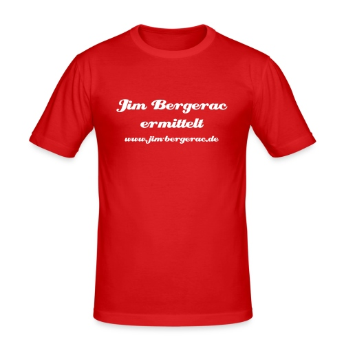 Bergerac Slim Fit mit Text - Männer Slim Fit T-Shirt