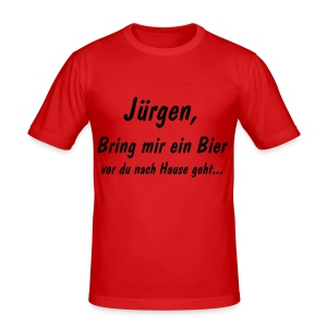 Oranje Bier-shirt - slim fit T-shirt
